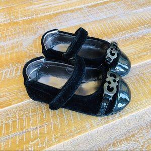 Cole Haan Black Velvet Infant Shoes